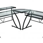 Z Line Feliz Glass L Desk